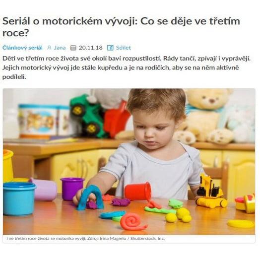 Seriál o motorickém vývoji